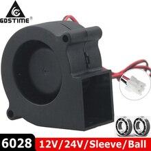 1 шт. бесщеточный кулер охлаждения DC центробежный вентилятор 60 мм 12 в 24 В 2Pin 60x28 мм 6028 6 см рукав двойной шар радиатора
