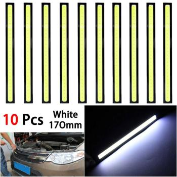 New Universal Waterproof Daytime Running lights COB Fog Lamp Car Styling Led Day light DRL Lamp White цена 2017