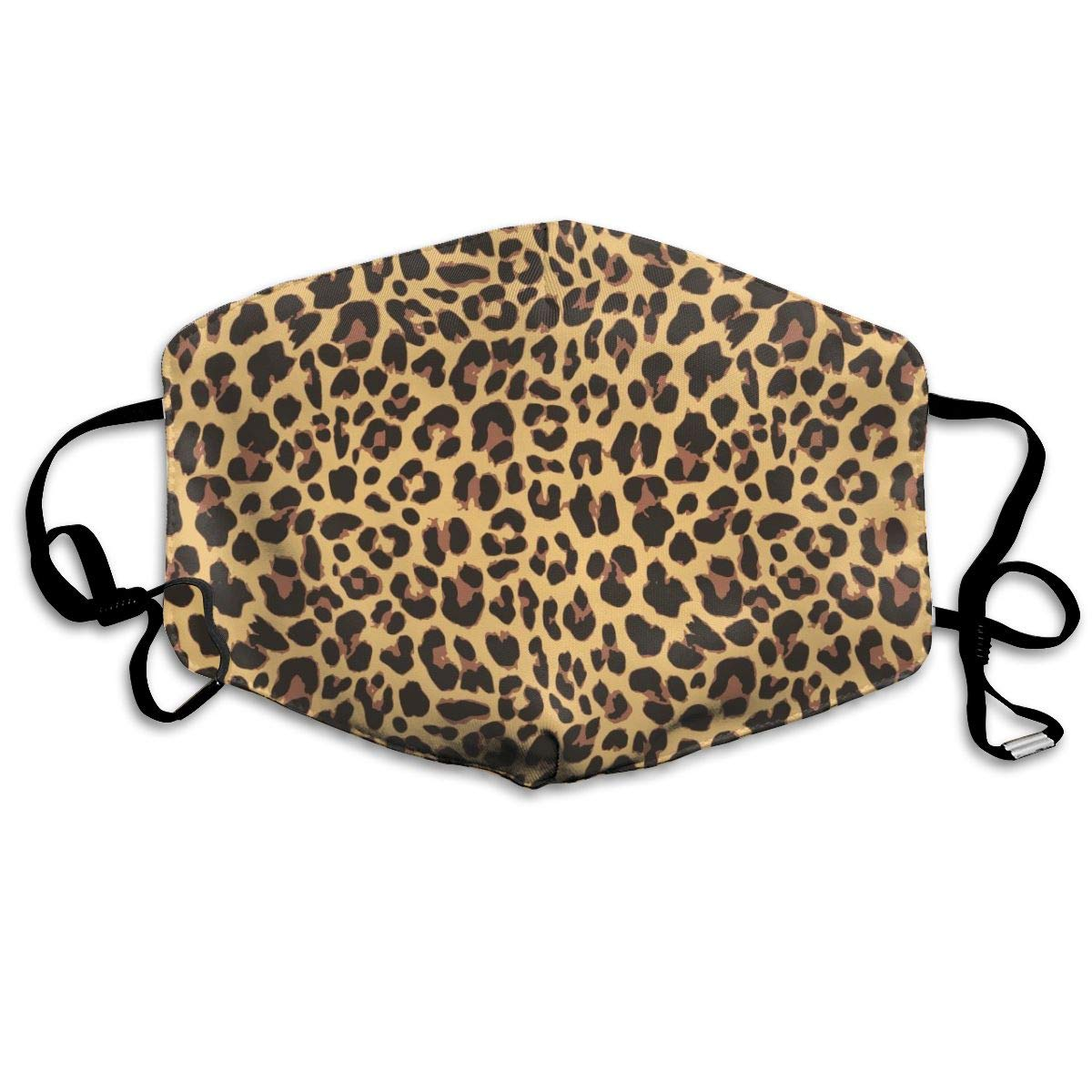 Mouth Mask Brown Cheetah Fashion Earloop Face Mask For Kids Teens Men Women Winter Summer