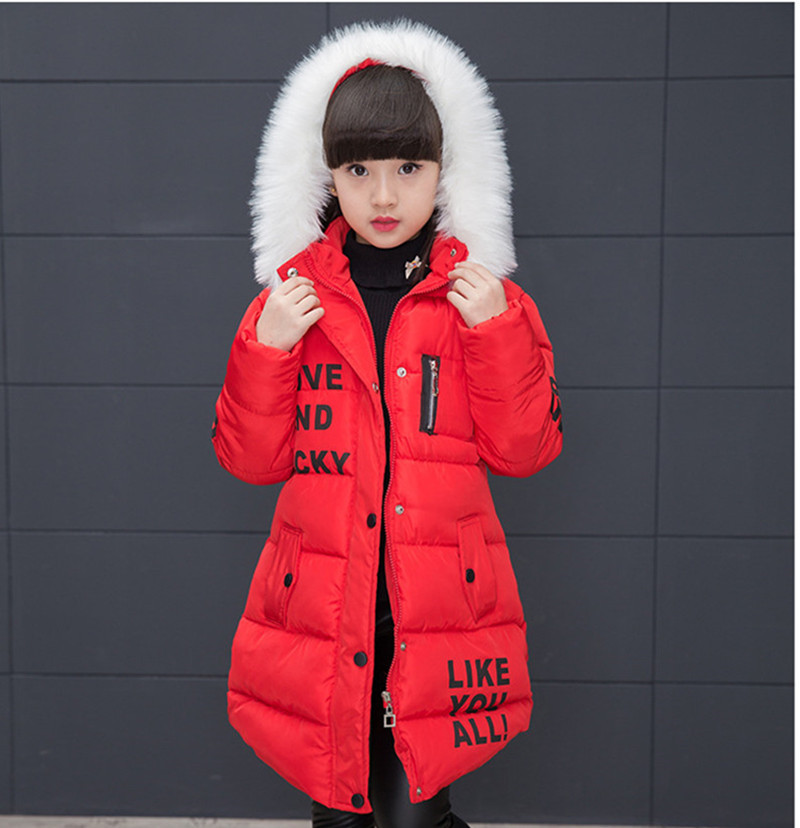 New Girls Warm Winter Coat Artificial Fur Fashion Kids Hooded Jacket Coat for Girl Outerwear Girls Clothes 3-12 Years