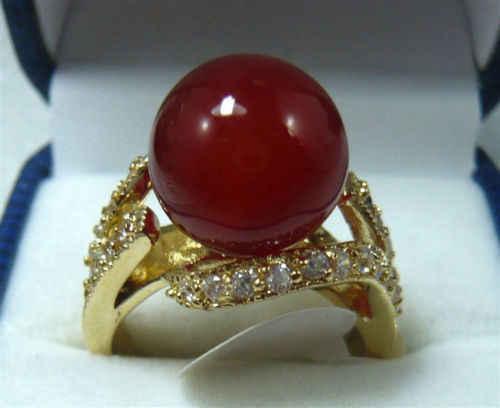 Noblest 10 มม.สีแดงหยกแหวน (#6,7,8,9) จัดส่งฟรี