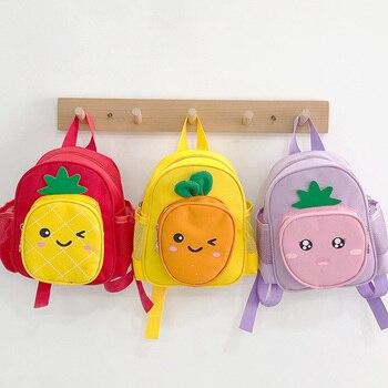 Children Backpacks Brand Design Cute Backpack Toddler Kids Waterproof School Bags Kindergarten Cartoon Bag for Girl and Boys cute kids satchel with polka dot and cartoon shape design