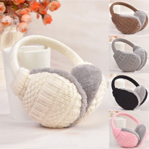 Hot Women Men Winter Plush Ear Pad Back Wear Winter Autumn Solid Fashion Earmuffs Headband Warmer Gift Healthy