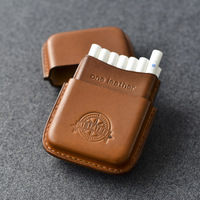 One Leather Cigarette Box Men Gift Cigarette Case Mens Gifts Cigarette Cover Smoke Tobacco Pouch Vegetable Tanned Leather