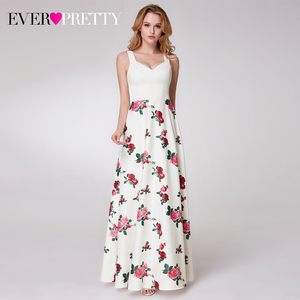 Image 1 - Elegnatดอกไม้พิมพ์Homecoming Dresses PrettyแขนกุดA Line Vคอง่ายสไตล์สำเร็จการศึกษาเดรสVestidos