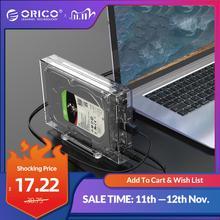 Orico 3.5 Inch Sata Naar Usb 3.0 Hdd Case Met Houder Ondersteuning 12Tb Max Transparante Harde Schijf Behuizing
