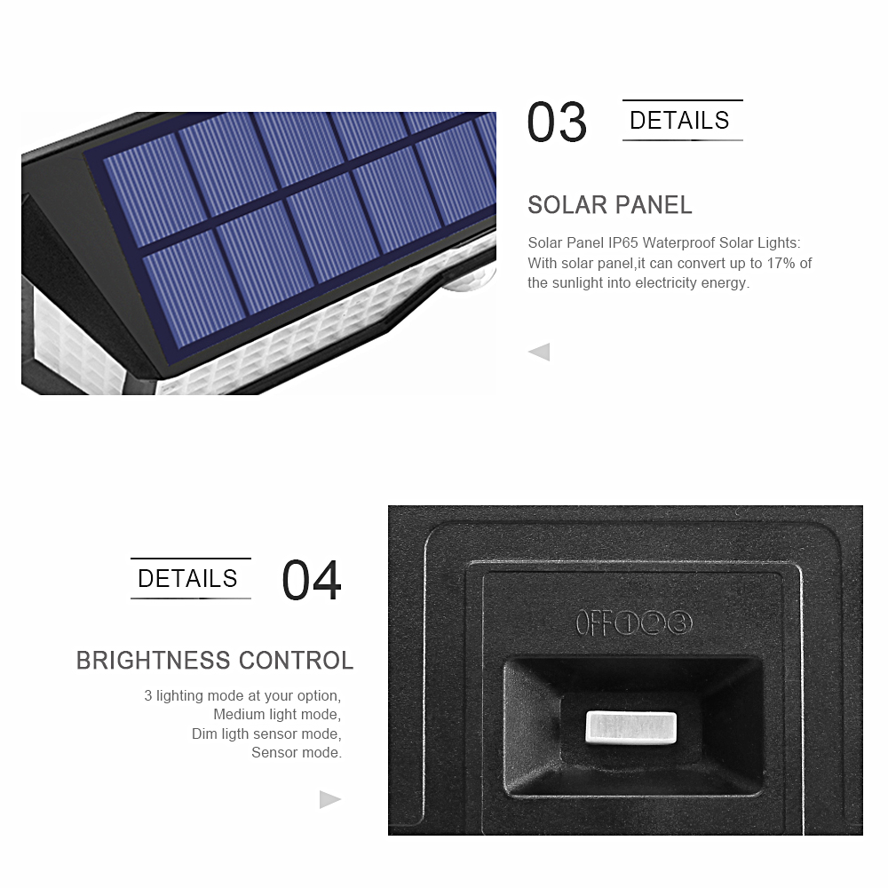 do jardim de energia solar sensor movimento