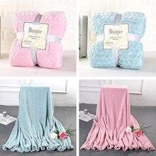Двойные лица мягкие теплые пушистые шерпа фланелевые одеяла для двойной кровати сплошной синий розовый зимняя простыня покрывало пледы одеяла