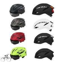 Cairbullサイクリングヘルメットeps防風レンズ一体成形自転車ヘルメット28ベントmtbバイクヘルメットcasco ciclismo 55 61センチメートル