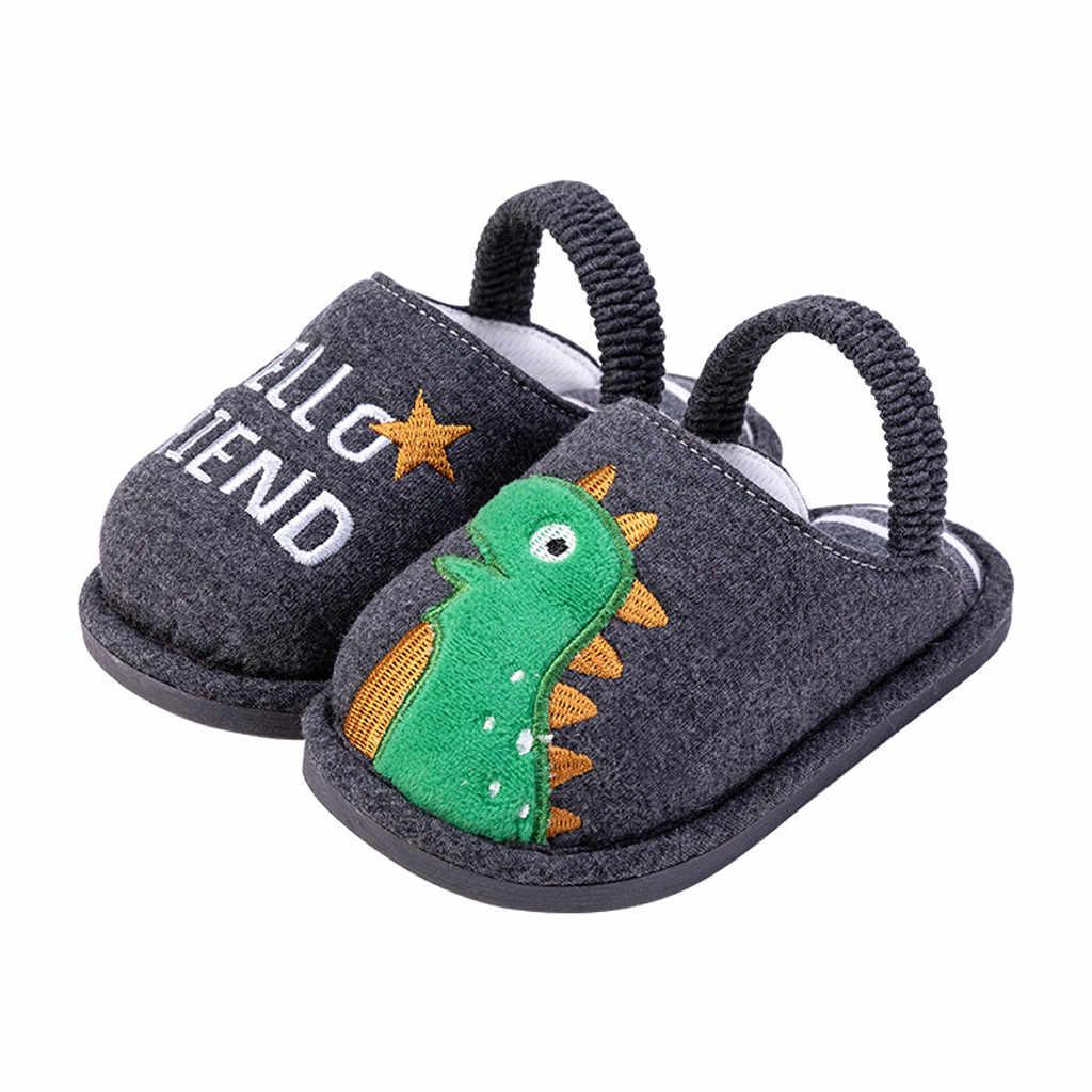 เด็กวัยหัดเดิน Boys Girls รองเท้าแตะรองเท้า Fluffy เด็กเล็กฤดูหนาว WARM Home รองเท้าเด็กสัตว์น่ารักรองเท้าแตะรองเท้า Dropship