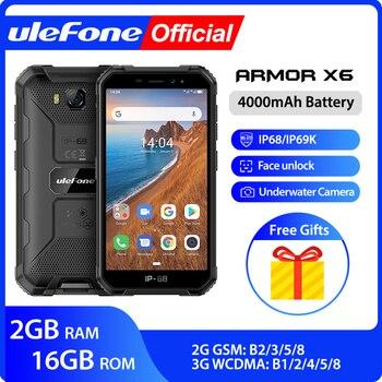 Перейти на Алиэкспресс и купить Ulefone Armor X6 смартфон с 5,5-дюймовым дисплеем, четырёхъядерным процессором Phon, ОЗУ 2 Гб, ПЗУ 16 ГБ, 4000 мАч