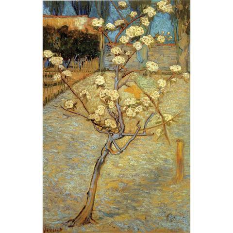 Reprodução de Óleo Arte por Vincent Árvore em Flor Pintados à Mão Decoração da Sua Gogh Pêra Alta Qualidade Lona Arte Casa Van