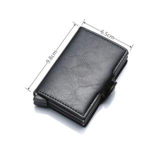 SEMORID 2020 нейтральный металлический барьер RFID кошелек для удостоверения личности Алюминиевый Дорожный держатель для карт кошелек деловая модная сумка из искусственной кожи Кошельки      АлиЭкспресс