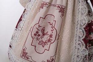 Image 5 - 2020 Pettigirl Groothandel Bloem Kant Borduurwerk Jurk Bruiloft Meisje Lange Vintage Jurk Met Hoofddeksels Voor Kid G DMGD210 281