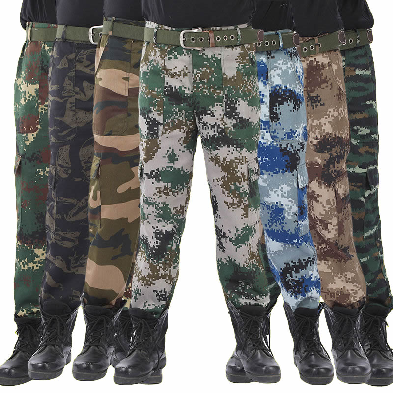 2019 Men Camouflage Military Pants Cotton Male Jogger Autumn Pencil Harem Pants Loose Comfortable Cargo Trousers Camo Jogger 5XL
