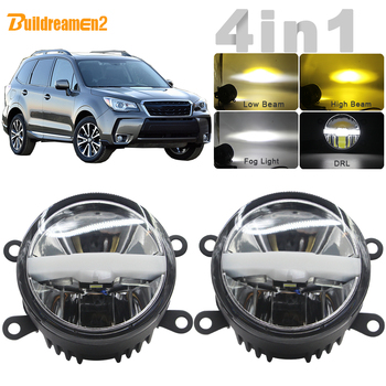 30W Car LED Light Fog Lamp Headlight High Beam Low Beam DRL + Harness Wire 12V For Subaru Forester 2013 2014 2015 2016 2017 2018 image