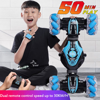 Coche teledirigido control remoto Radio de inducción de gestos, vehículo acrobático todoterreno, juguete de escalada de alta velocidad 4WD