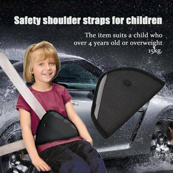 Black Triangle Baby Car Safe Adjuster Seat Belt Breathable Protector For Children Positioner Car Pillow Car Seat Belt Adjuster image