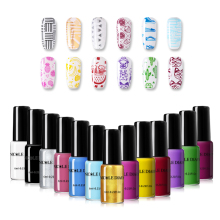 NICOLE DIARY 1 Bottle Nail Stamping Polish Varnish Colorful Art Plate Printing Lacquer Manicure