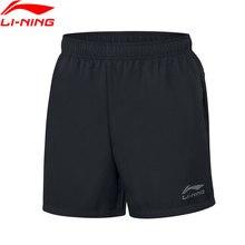 Li-Ning мужские шорты для настольного тенниса, дышащие, обычная посадка, командная одежда, подкладка, базовые спортивные шорты для соревнований, AAPP075 MKD1611