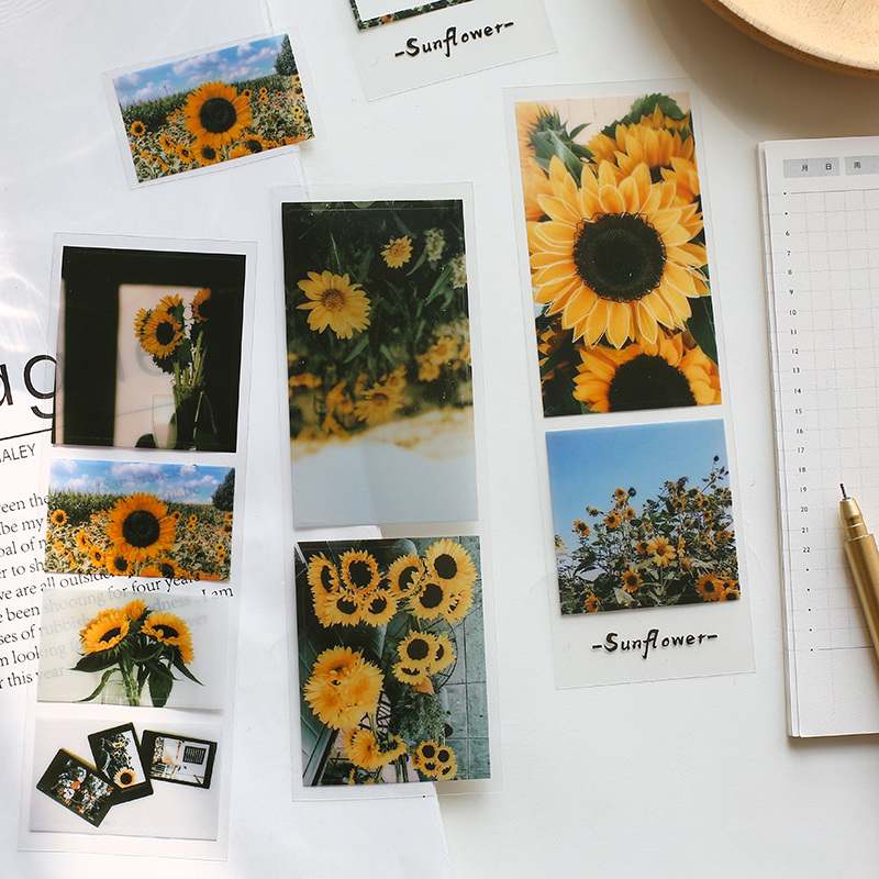 3 Sheets Light Shadow Story Ins Style Stickers Set Decorative Stationery Stickers Scrapbooking Diy D