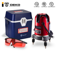 DEKO LL5 серия 5 линий 6 точек лазерный уровень самонивелирующийся многоцелевой перекрестный наружный режим наклона может использоваться с штативом