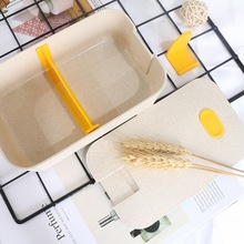 Wheat Straw Japanese Style  Lunch Box Containers with Compartments Leakproof  Microwave Bento Box Eco-Friendly Food Container цена и фото
