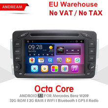 7'' Octa Core 2G RAM 32G ROM Car DVD Player Stereo Android 7.1 Car Radio Navigation BT WiFi For Benz W209 все цены