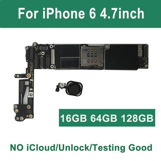 """ICloud placa base desbloqueada para iPhone 6, 4,7 """", con Touch ID, para iPhone 6, 32GB, 16GB, 64GB, A1549, ñ, A1586, negro, dorado, Rosa"""