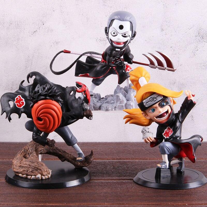 Naruto Shippuden Figure Deidara Pain Pein Konan Hidan Akatsuki Uchiha Madara Action Figure Naruto PVC Collectible Model Toys