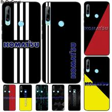Manton Excavator brand Komatsu Black TPU Soft Phone Case Cover For Huawei Enjoy 7S 8 9E 7 8 9 10plus NOVA 6-5G 7 Pro se 20y 60 22121 rotary swing solenoid valve for komatsu pc200 6 pc 6 6d95 excavator