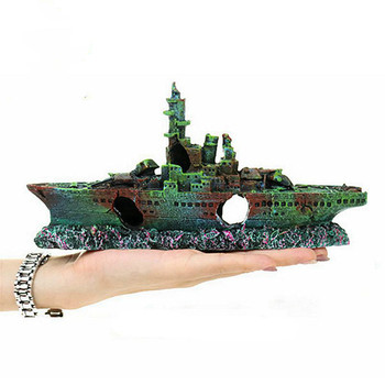 Water Shipwreck Ship Background Background Warship Remnant Box Landscaping Decoration Ornaments Fish Tank Landscaping Match фото
