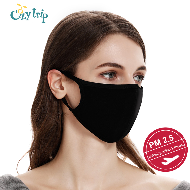 Unisex Face Mask With PM2.5 Activated Carbon Mask Filter Anti Pollution Respiratory Valve Mouth Mask Protective Mask Filter