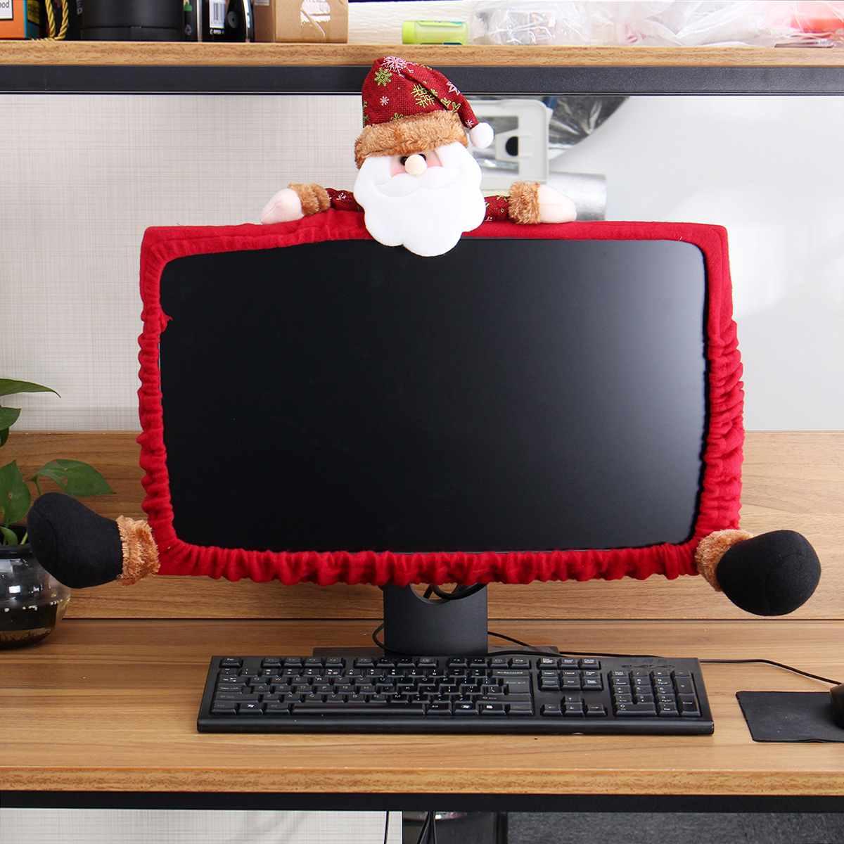 Xmas Computer LCD Monitor Border Cover Screen Edge Protect Christmas Decor Festive Holiday Ornaments Party Supplies Home Decor