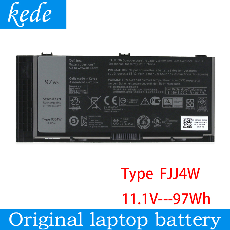 Kede оригинальный FJJ4W Аккумулятор для ноутбука Dell Precision M4800 M4600 M4700 M6600 M6700 M6800 N71FM FV993 T3NT1 PG6RC R7PND 97WH