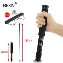 BEXIN mini trípode ligero portátil para cámara dslr y SLR, monopié de 122cm de longitud de expansión, varilla de soporte, material de aluminio