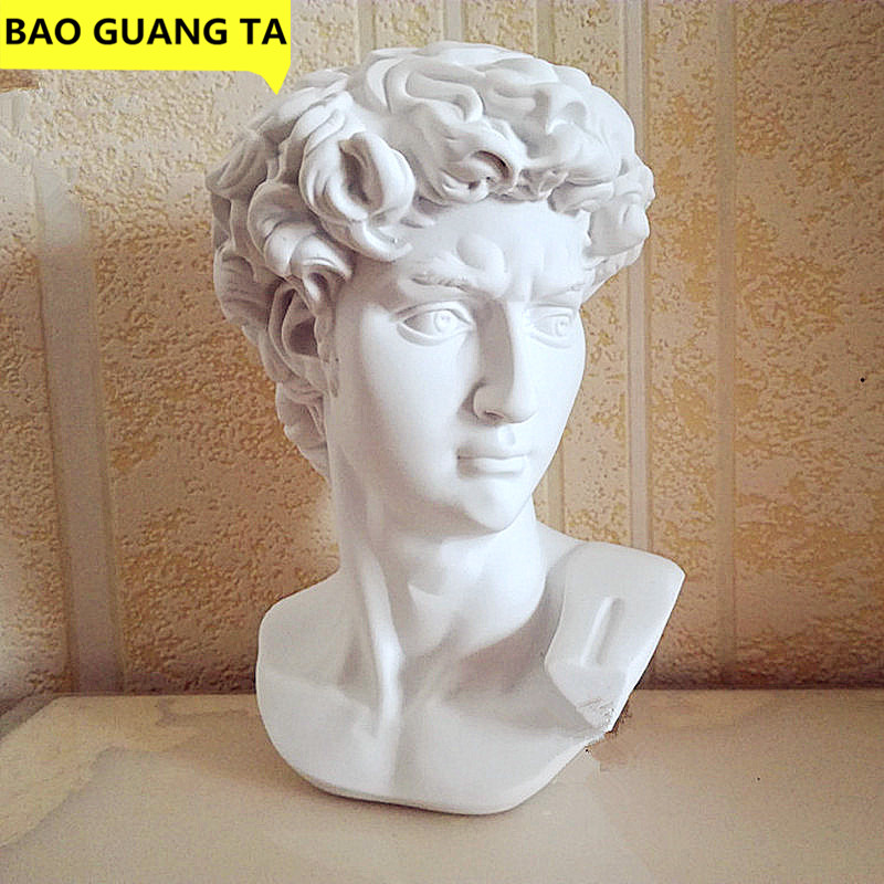 BAO GUANG TA David Head Portraits Bust Gypsum Statue Michelangelo Buonarroti Sculpture Home Decor Craft Sketch Practice L1239|Statues & Sculptures|   - AliExpress
