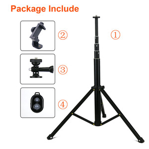 """Image 5 - Lightweight Selfie Stick Tripod Stand 51"""" Extendable Phone Mount Stand Wireless Remote For  iPhone 11 Pro XR Gopro Digtal Camera"""