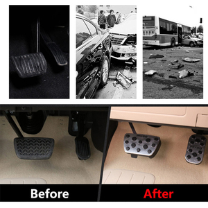 Image 2 - Aluminum Car Foot Fuel Pedal Accelerator Brake Pedal Pad Covers For Toyota Land Cruiser Prado 150 2010 2015 2016 2017 2018 2019