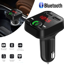 Bluetooth 5.0 FM Transmitter Car MP3 Player Dual USB 2.1A Fast Charger Car Music Player  FM Modulator Audio Frequency Radio car mp3 player bluetooth fm transmitter handsfree car kit audio radio voltage monitor tf u disk 2 usb charger audio car music