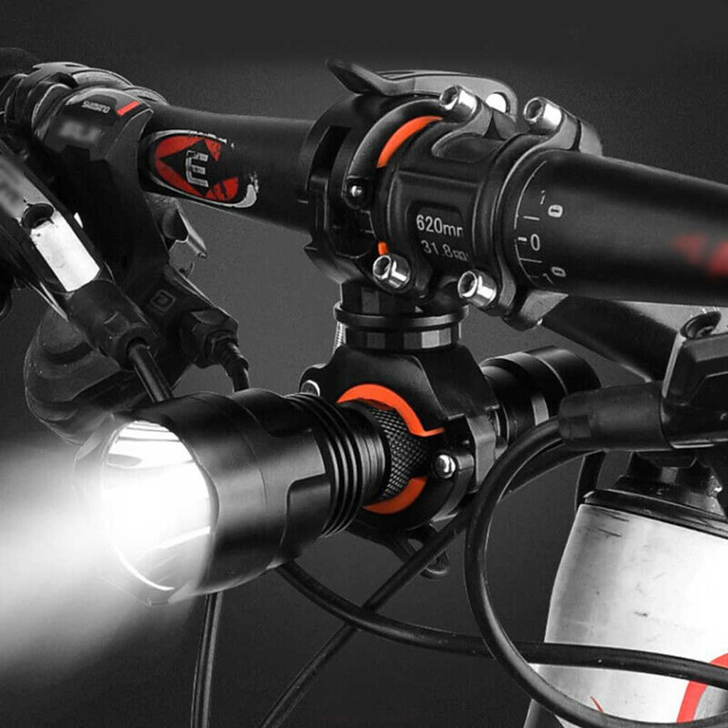 360° Rotation Flashlight Mount Holder Bicycle Light Mounting Holder Clip Clamps