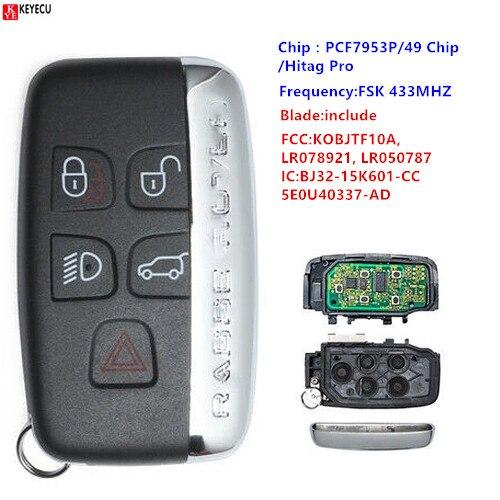 Keyecu KEYECU дистанционный брелок 315 МГц/433 МГц для Land Rover LR2 LR4,Range Rover Evoque Sport 2012-2017 KOBJTF10A