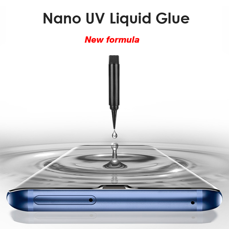 nano Liquid UV Tempered Glass film for huawei P30 pro P40 pro Screen Protector For HUAWEI Mate 20 30 pro UV protection glass 2