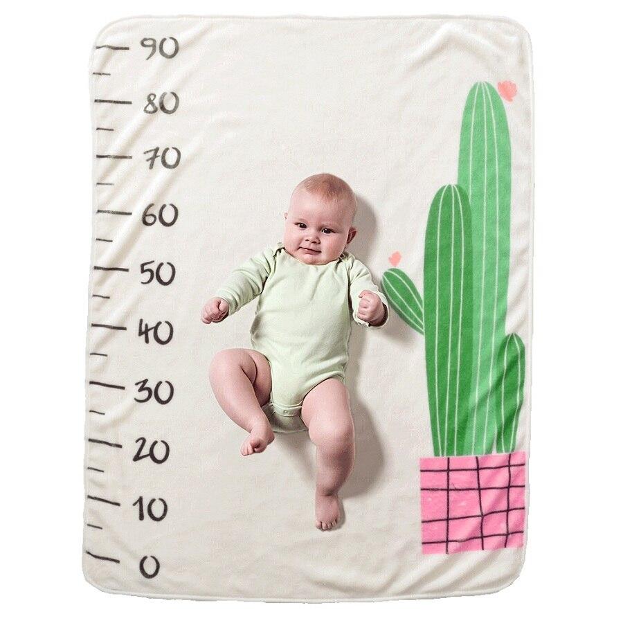 19 стильных детских ежемесячных одеял для девочек и мальчиков с цветочными крыльями, рамка для новорожденных, фон для фотосессии, фланелевый Рождественский олень - Цвет: Type 1