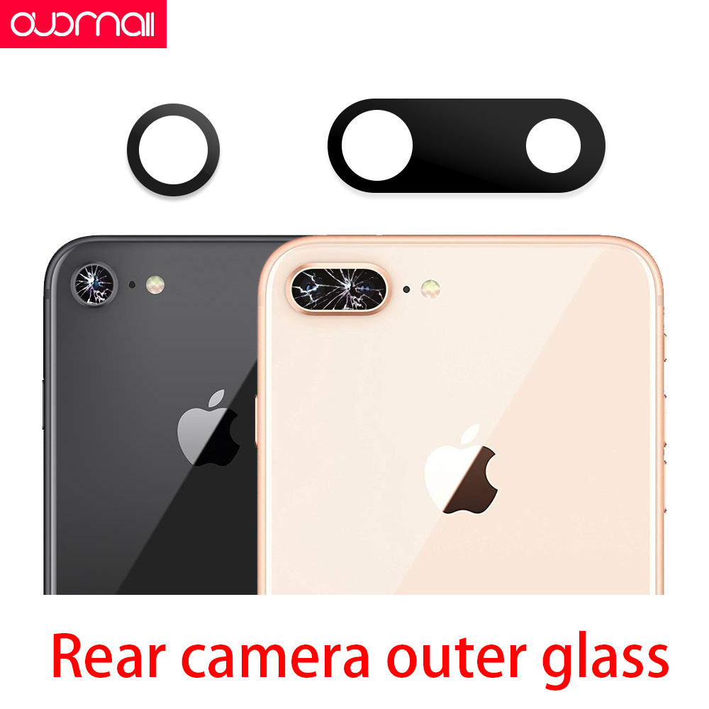Rear camera <font><b>glass</b></font> For <font><b>iphone</b></font> xs max camera <font><b>glass</b></font> xr 8Plus 7Plus <font><b>8</b></font> 7 6s <font><b>back</b></font> camera <font><b>glass</b></font> <font><b>repair</b></font> parts broken replace image