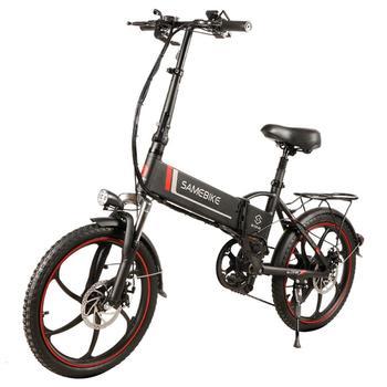 Samebike 20LVXD30 Разумны складаны электрычны мапед на веласіпедзе 20 цалі 350W 10Ah / 48V Літый-іённы акумулятар 120 кг з рэгуляванымі вышынямі