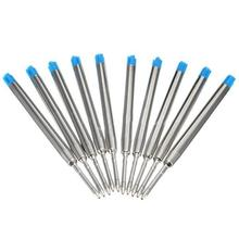 10pc/set Pen Refill Rod Cartridge For  Ballpoint Pen Core Refill Ink Recharge Black Blue Color Optional Student Gift