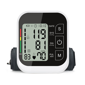 Image 2 - JZIKI LCD numérique automatique bras tensiomètre tonomètre mètre sphygmomanomètre Portable Tensiometro manchette partenaire de santé