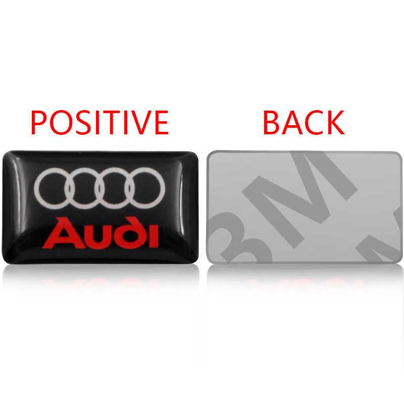 1 pièces 3D voiture autocollant badge volant petite coquille emblème Pour audi a3 a4 a5 a6 a7 a8 Q3 Q4 Q5 Q6 Q7 b8 b6 c6 8p style De Voiture