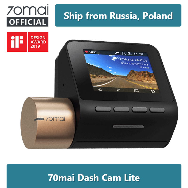 70mai Dash Cam-Recorder Gps-Modules Parking-Monitor Mai-Lite Speed-Coordinates 1080P